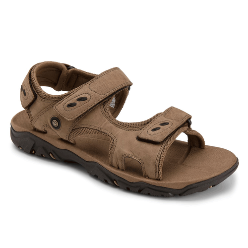Coastal Creek 3 Strap Men's Sandals in Grey